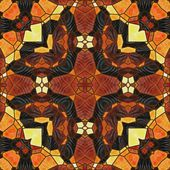 Art nouveau ornamental vintage blurred pattern in brown color — Photo