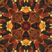 Art nouveau ornamental vintage blurred pattern in brown color — Stockfoto