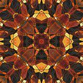 Art nouveau ornamental vintage blurred pattern in brown color — Stock Photo