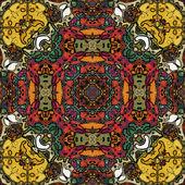 新艺术风格的几何装饰复古图案 — 图库照片