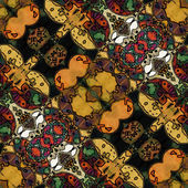Art nouveau geometric ornamental vintage pattern — Stock Photo