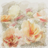 Art floral vintage watercolor background — Stock Photo