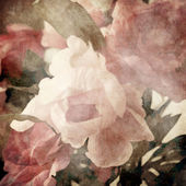 Art floral vintage sepia background with light pink peonies — Stock Photo