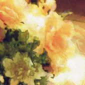 Art vintage floral blurred background — Stock Photo