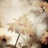 軽い黄色鎮静とアート花ビンテージ セピア色の背景 — ストック写真