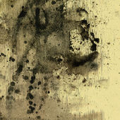 Art abstract watercolor beige background with black blots — Stock Photo