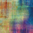Stock Photo: Art fabric textured rainbow background with color blurred blots