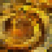 Art abstract golden 3d tiles background, seamless pattern — Stock Photo