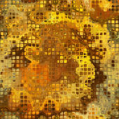 Art abstract golden small tiles background, seamless pattern — Stockfoto