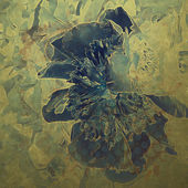Art grunge floral vintage background in green and blue — Stock Photo