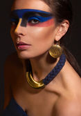 Portrait of woman with art make-up — Stock Photo