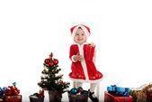 Santa girl — Stock fotografie