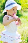 Bebê de moda verão — Foto Stock
