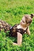 Senhora da primavera — Foto Stock
