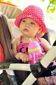 Child in stroller — Stock Photo