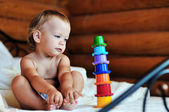 Toddler with toy — Stock Photo