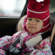 Постер, плакат: Sad baby in car seat
