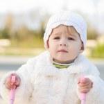 Walking baby — Stock Photo