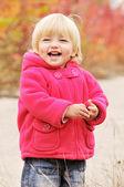 Happy blonde baby — Stock Photo