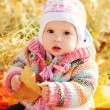 Royalty-Free Stock Photo: Baby in fall time