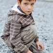 Boy near the sea — Stock Photo