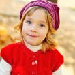 Sweet girl in fall time — Stock Photo