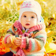 Royalty-Free Stock Photo: Baby girl in fall