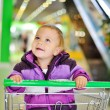 Baby in shop — Stock Photo