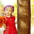 Girl in fall — Stock Photo