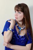 Bayan mavi — Stok fotoğraf