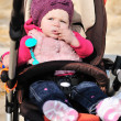 Cute girl in stroller — Stock Photo #23598503