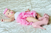 3 months old baby gir — Stock Photo