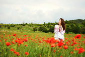 Girl in field — Stock Photo