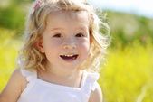 Happy toddler girl — Stock Photo