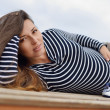 Beautiful pregnant  woman — Stock Photo