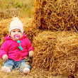 Stock Photo: Baby in fall time