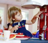 Playing toddler girl — Stock Photo