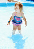 Toddler in pool — Stock Photo