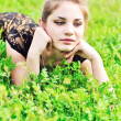 Stock Photo: Teen girl in grass