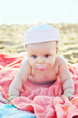 Baby on the beach — Stock Photo