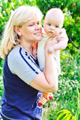 Mother and her baby — Stock Photo