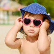 Stock Photo: Fashion toddler on beach
