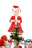 Lovely santa hepler — Stockfoto