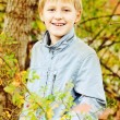 Boy in fall time — Photo