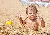 Zabawa na plaży — Zdjęcie stockowe