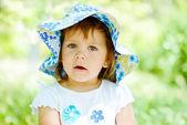 Portrait of toddler girl — Stock Photo