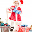 Little Santa girl — Stock Photo #29136089