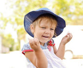 Laughing toddler girl — Stock Photo