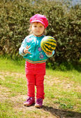 Girl with ball — Stock Photo