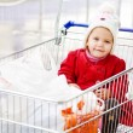 Supermarcet with baby — Stock Photo #29817319